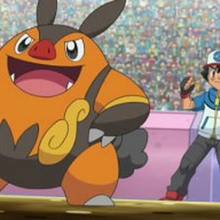Pignite junto a Ash.