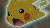 EP952 Pikachu usando ataque rápido