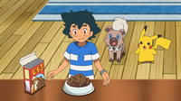 EP953 Sirviendo comida Pokémon