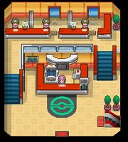 Planta Baja del Centro Pokémon en Oro HeartGold y Plata SoulSilver