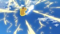 EP1092 Pikachu usando Cola férrea