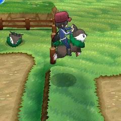 El jugador saltando a lomos de un <a href=