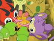 EP499 Pokémon comiendo la miel del árbol
