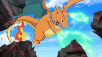 EP935 Charizard usando garra dragón