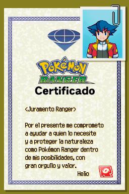 Certificado Ranger de Helio