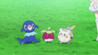 EP944 Popplio de Nereida, Bounsweet de Lulú y Togedemaru de Chris