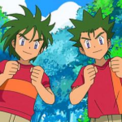 Mi hermano leo (gemelo) y yo con unas pelucas, Leo tiene un <a href=