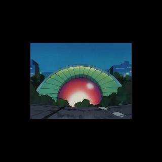 Centro Pokémon de Ciudad Verde en el anime.