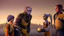 Ezra y Zeb de regreso con la fruta