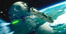 Endor-spacebattle