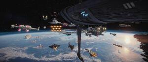 Rebel Fleet above Scarif