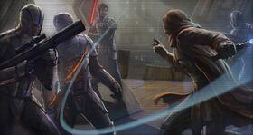 Revan fights Sith