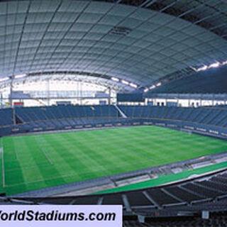 El Sapporo Dome en Modo Futbol.