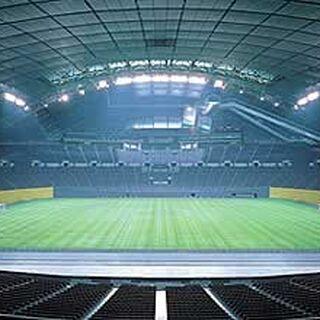 El Sapporo Dome por dentro.