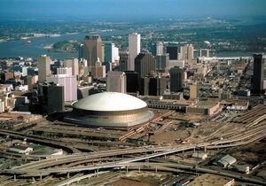 Louisiana Superdome por fuera