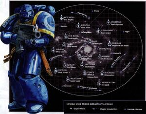 Mapa galaxia despliegues marines espaciales