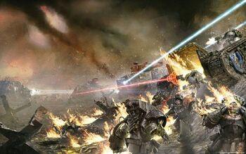 Batalla tallarn vs guerreros hierro