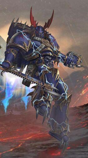 Caos amos de la noche legionario armadura medianoche