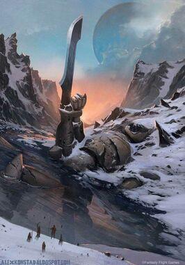 Mundo ancestral estatua titan eldar