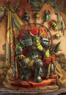 Kaudillo orko grimtoof trono warhammer 40k wikihammer