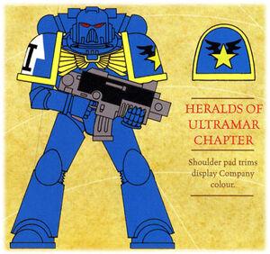 Heraldos de Ultramar Insignium Astartes ilustración