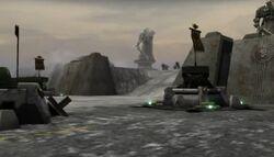 Defensas Bahía Victoria Guardia Imperial Kronus Dawn of War Dark Crusade screenshot