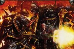 Caos marines de la legion negra combate