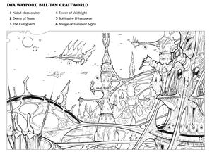 Puerto Ixia Mundo Astronave Biel-Tan Eldar 4ª Edición ilustración