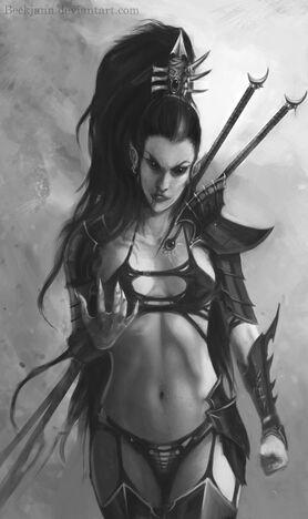 Eldar oscuro lelith hesperax figura