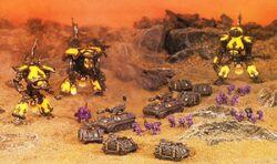 Grupo Ojos de Tigre Legio Fureans asalto columna Marines Espaciales Epic