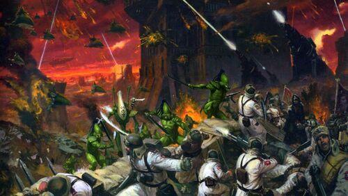 Batalla Eldars Biel-Tan vs Guardia Imperial Valhalla