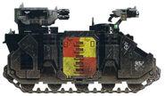Grifos Aullantes Razorback Mk VI Camuflaje Planeta Nocturno Octava Compañia Marines Espaciales Astartes Wikihammer