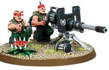 Miniatura guardia Catachan Autocañón