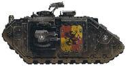 Grifos Aullantes Land Raider Prometheus Escudo Mancora Cuarta Compañia Marines Espaciales Astartes Wikihammer