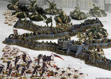 Ejercito guardia imperial vs. tiranidos