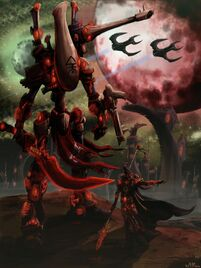 48935 md-Artwork, Eldar, Farseer, Night, Painting, Wraithlord