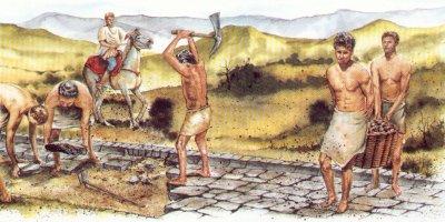 Esclavos calzadas roma wikia