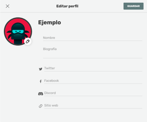 Editar perfil