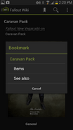 Android Bookmark Screen