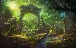 Art-ruiny-reka-vodopad-vrata