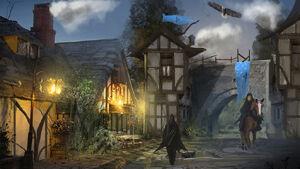 Fantasy town entrance exit by brandongobey-d722y3r