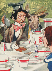 Alice's Adventures in Wonderland - Carroll, Robinson - S119 - 'What day of the month is it' he said, turning to Alice