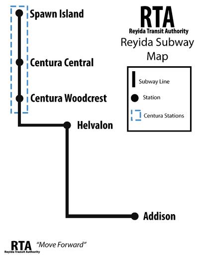 RTA Subway Map-PNG