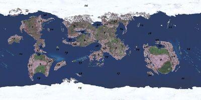 World Map of Eterinin Labeled