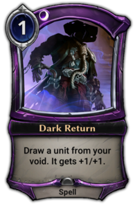 Dark Return
