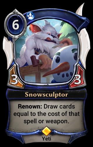Snowsculptor card