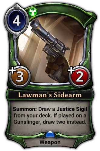 Lawman's Sidearm card