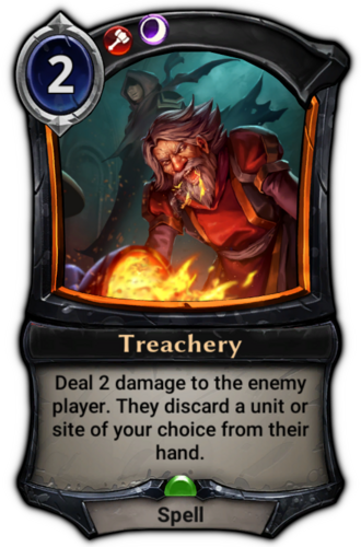 Treachery card