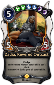 Zadia, Revered Outcast