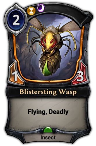 Blistersting Wasp card